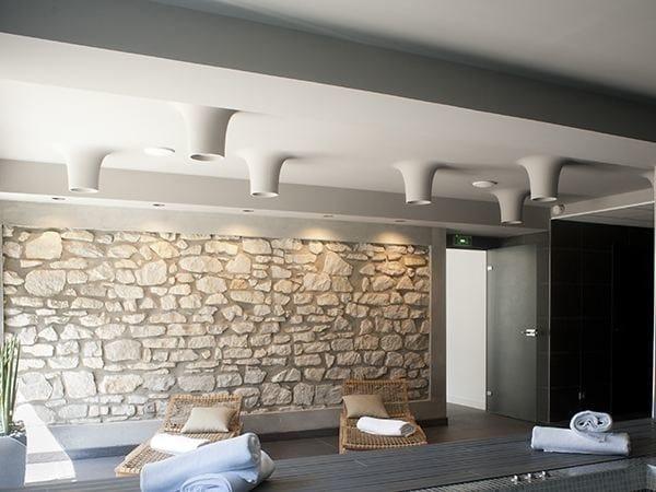 Direct light aluminium ceiling lamp USO BOOB 600 1L by FLOS