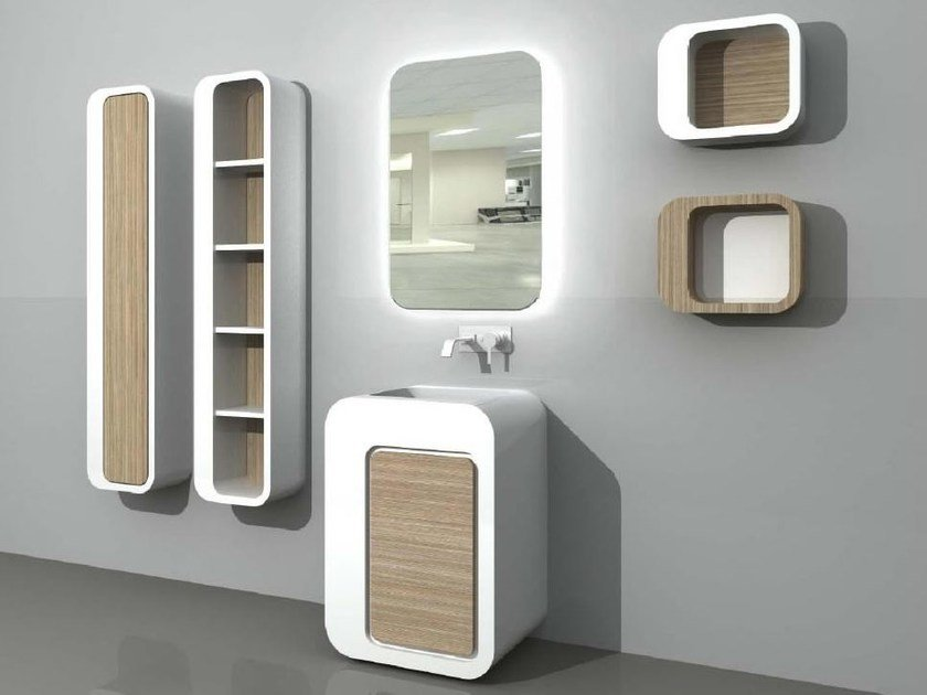 Floor-standing vanity unit with cabinets with drawers UnopuntoZero COMP 1 by LASA IDEA