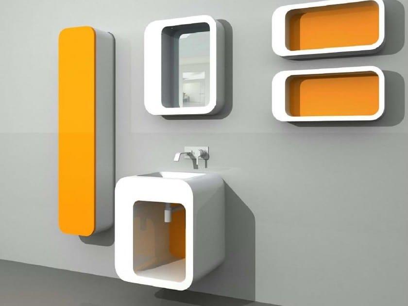 Vanity unit with cabinets with mirror UnopuntoZero COMP 4 by LASA IDEA