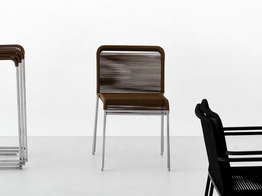 Polyester garden chair ARIA | Polyester chair by Lapalma
