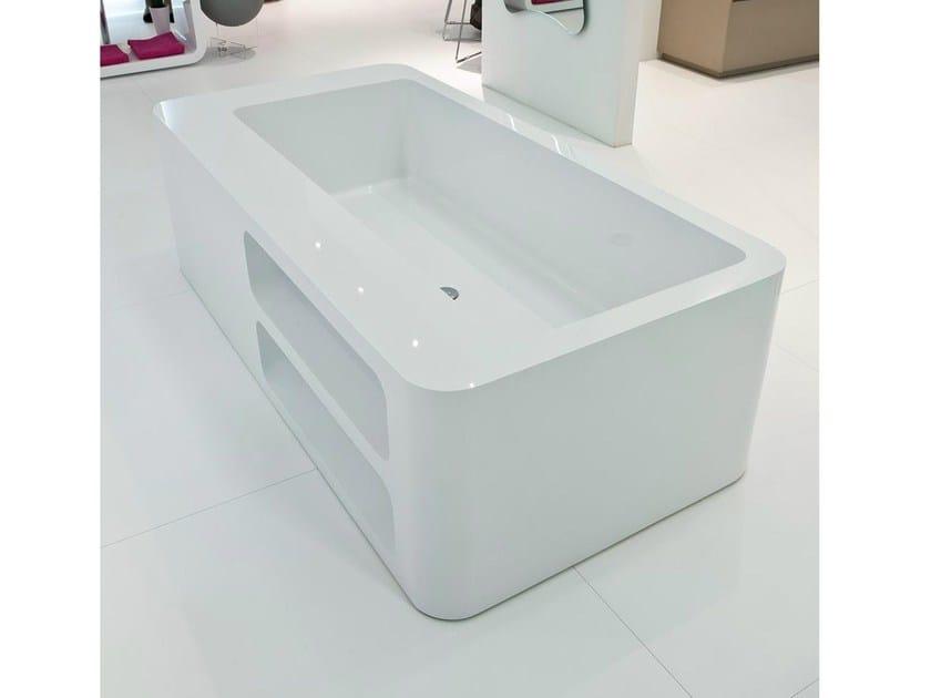 Freestanding rectangular bathtub UNOPUNTOZERO   Freestanding bathtub by LASA IDEA