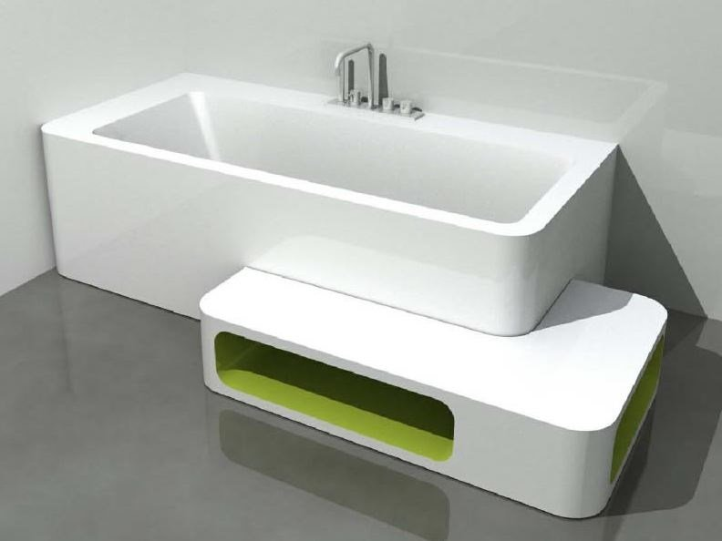 Genial Corner Rectangular Bathtub UNOPUNTOZERO | Corner Bathtub By LASA IDEA
