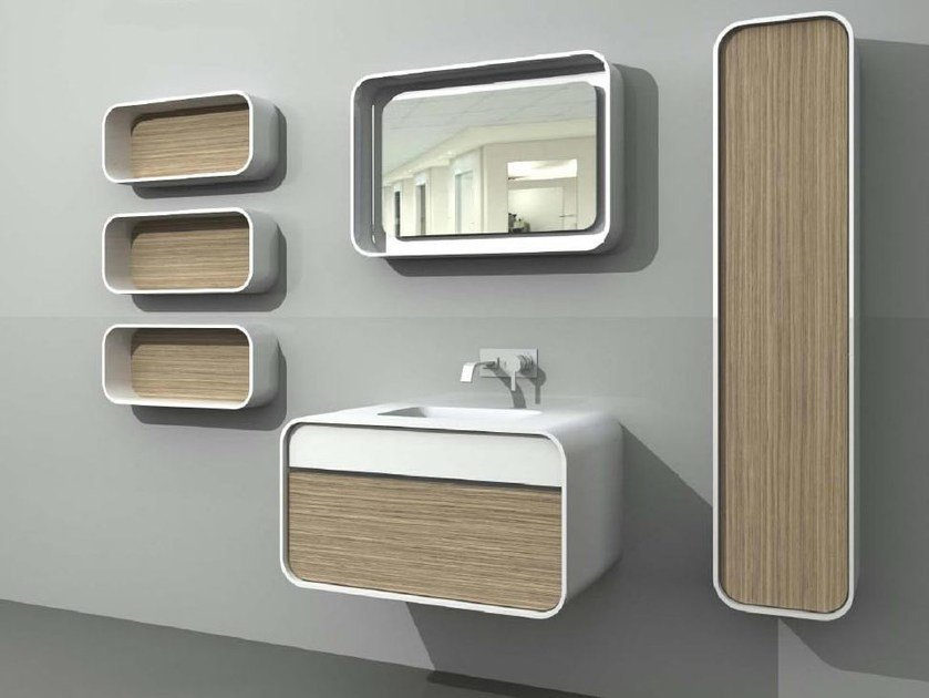 Single wall-mounted vanity unit with drawers DuepuntoZero COMP 3 by LASA IDEA