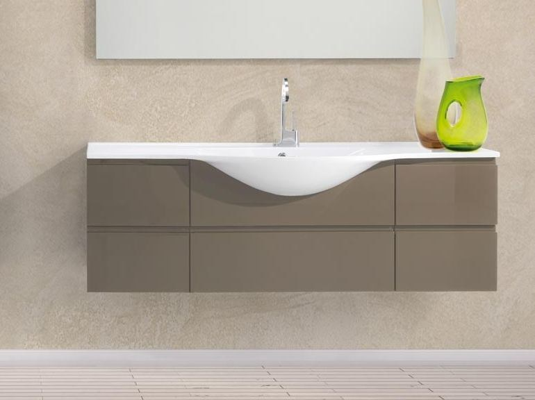 Lacquered single wall-mounted vanity unit VANITY 02 by LASA IDEA