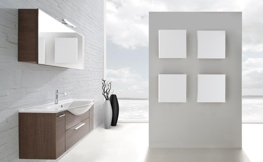 Single wall-mounted vanity unit with drawers VANITY 05 by LASA IDEA