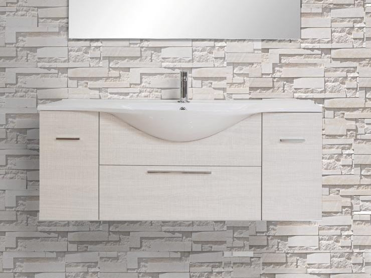 Design single wall-mounted wooden vanity unit with drawers VANITY 07 by LASA IDEA