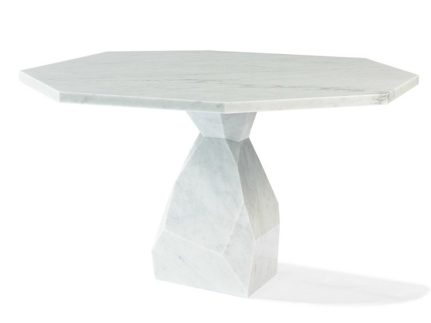 Marble table ROCK 140 by Ginger & Jagger