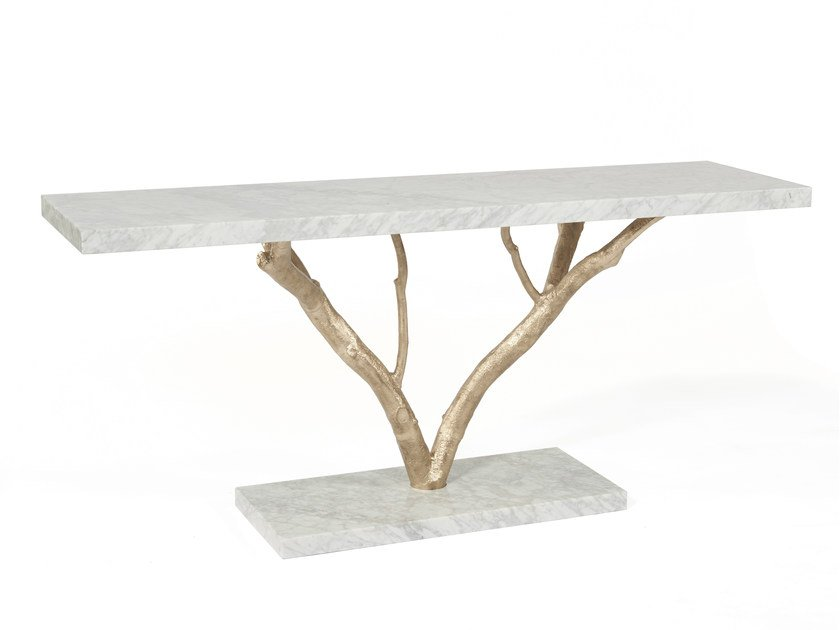 Rectangular marble console table PRIMITIVE by Ginger & Jagger