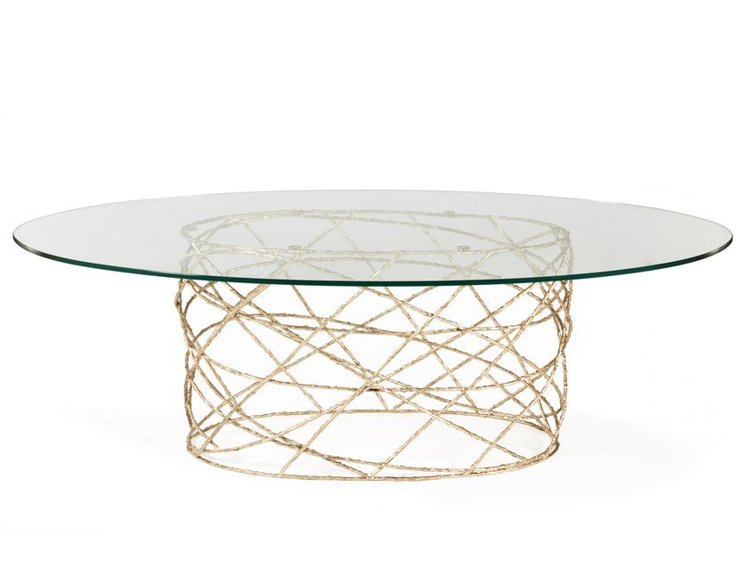 Oval glass living room table ROSEBUSH | Oval table by Ginger & Jagger