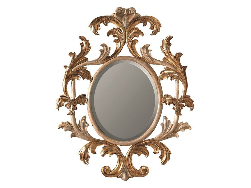 Oval framed mirror LOTUS by BLEU PROVENCE