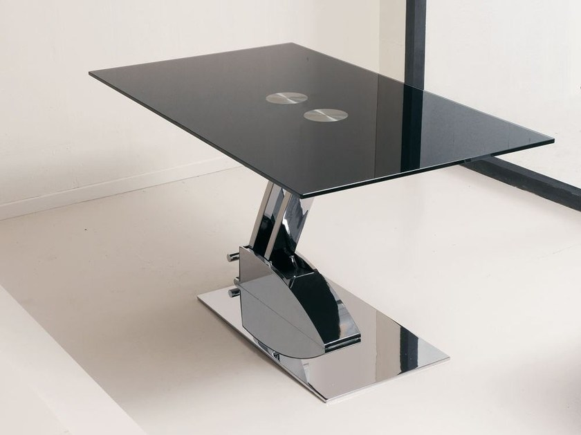 Height-adjustable rectangular table GAME by Italy Dream Design