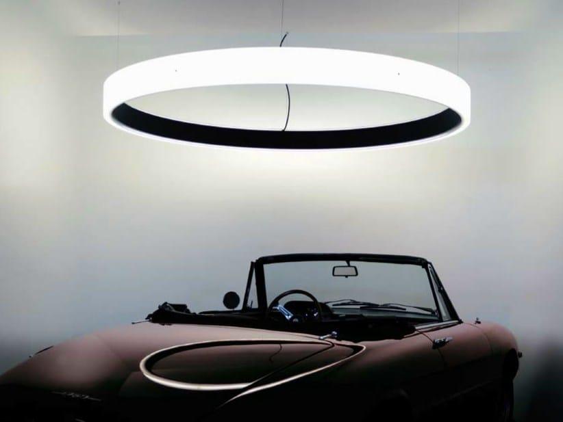 LED acrylic glass pendant lamp CIRCOLO INVERSE by Sattler