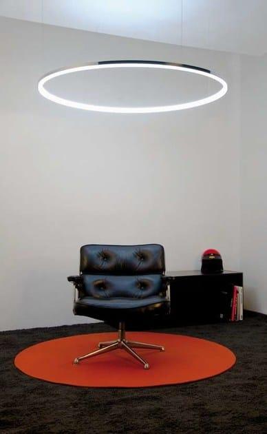 Lampada a sospensione a LED in alluminio CIRCOLO MINI By Sattler yZILzo