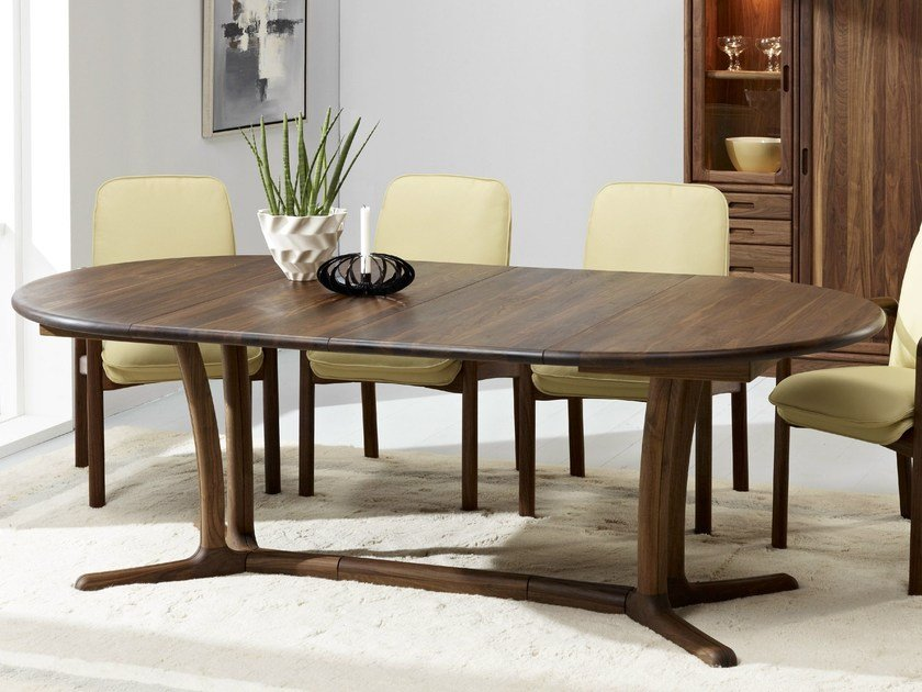 Extending wooden table 9275G/2 | Table by Dyrlund