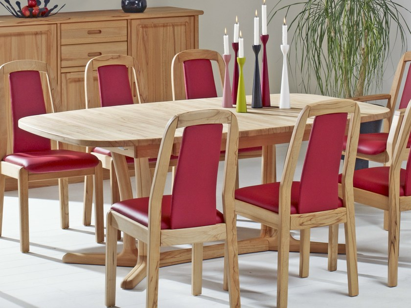 Extending wooden table 9241BK/2 | Table by Dyrlund