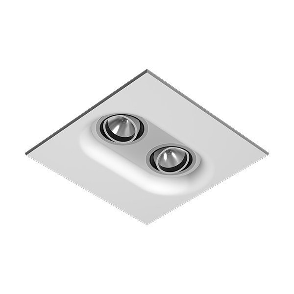 Multiple square ceiling spotlight USO 332 FOR MODULAR CEILING by FLOS