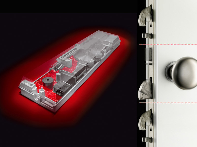 Electronic security door lock Multiblindo eMotion by ISEO Serrature