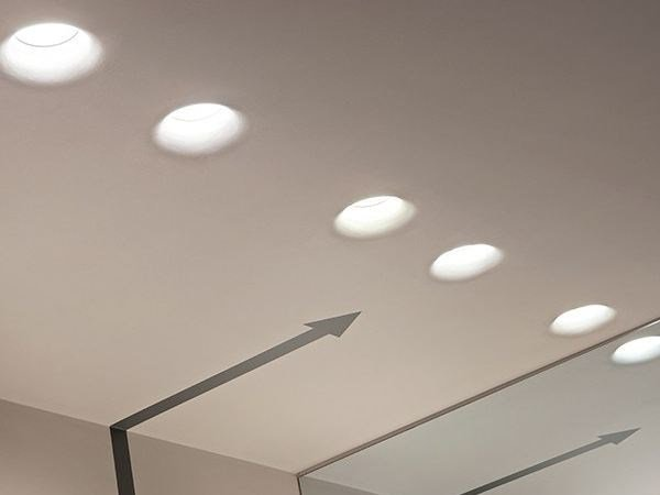 Indirect light recessed plaster ceiling lamp USO KAP by Flos