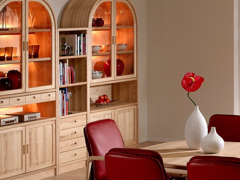 Wooden bookcase with drawers 1192M | Bookcase by Dyrlund