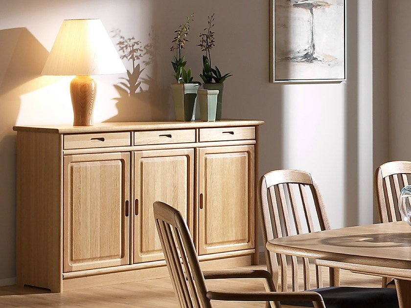 Wooden sideboard with doors 1155M   Sideboard by Dyrlund