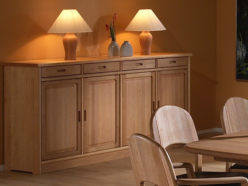 Wooden sideboard with doors 1154M | Sideboard by Dyrlund