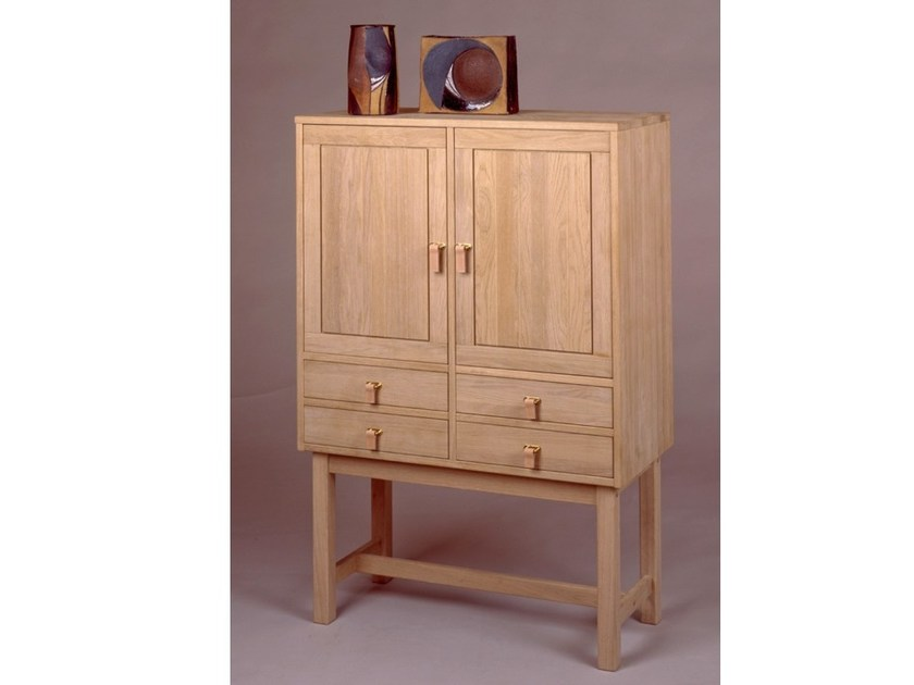 Wooden highboard with drawers KURT ØSTERVIG | Highboard by Dyrlund