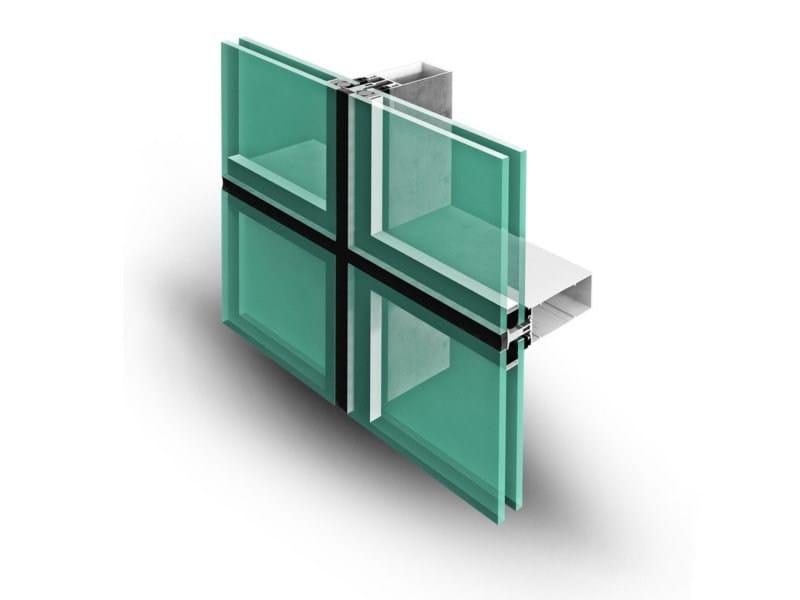 Continuous facade system SIRIO 50 SG by ALsistem