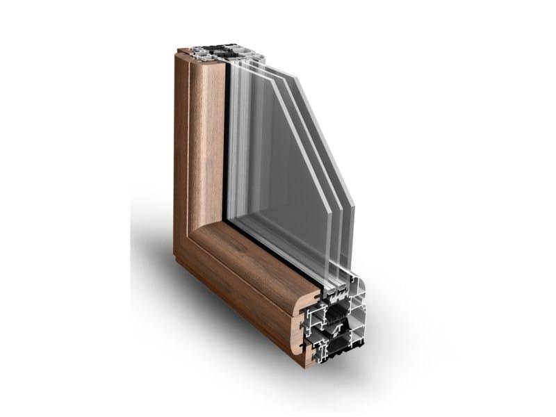Aluminium and wood thermal break window NATHURA 92 by ALsistem