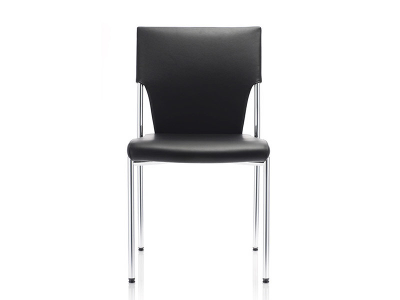 Leather visitor's chair DRIVE | Leather visitor's chair by Brunner
