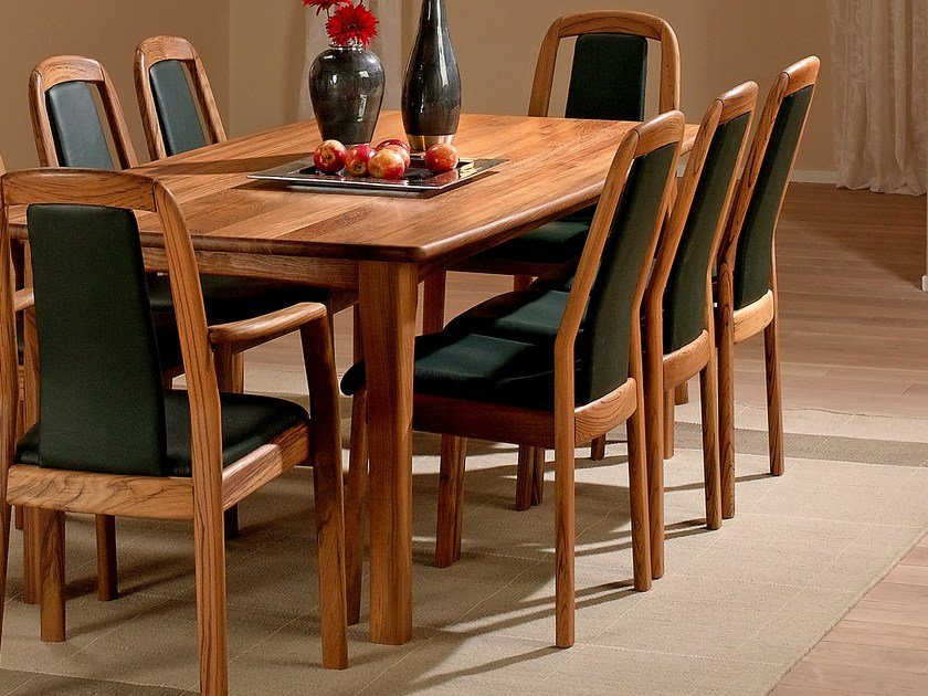 Rectangular wooden table 9248 | Table by Dyrlund