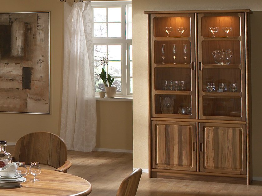 Wooden highboard with doors 1181M | Highboard by Dyrlund