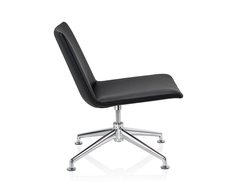 Leather easy chair with 4-spoke base FINALOUNGE | Leather easy chair by Brunner