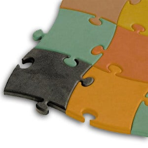 MDF wall tiles MDF TOPAN® colour FF by LEGNOPAN