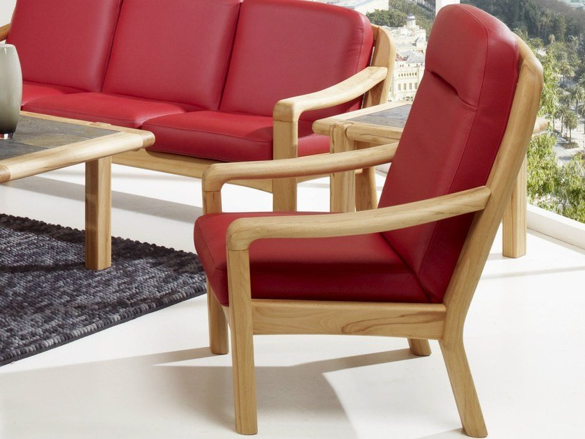 Armchair with armrests 1240H | Armchair by Dyrlund