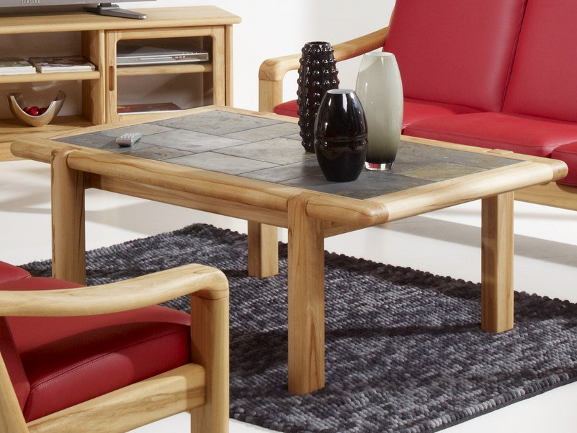 Rectangular wooden coffee table 1511A | Coffee table by Dyrlund