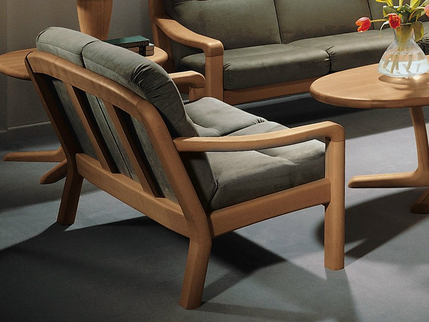 2 seater wooden sofa 1230A   2 seater sofa by Dyrlund