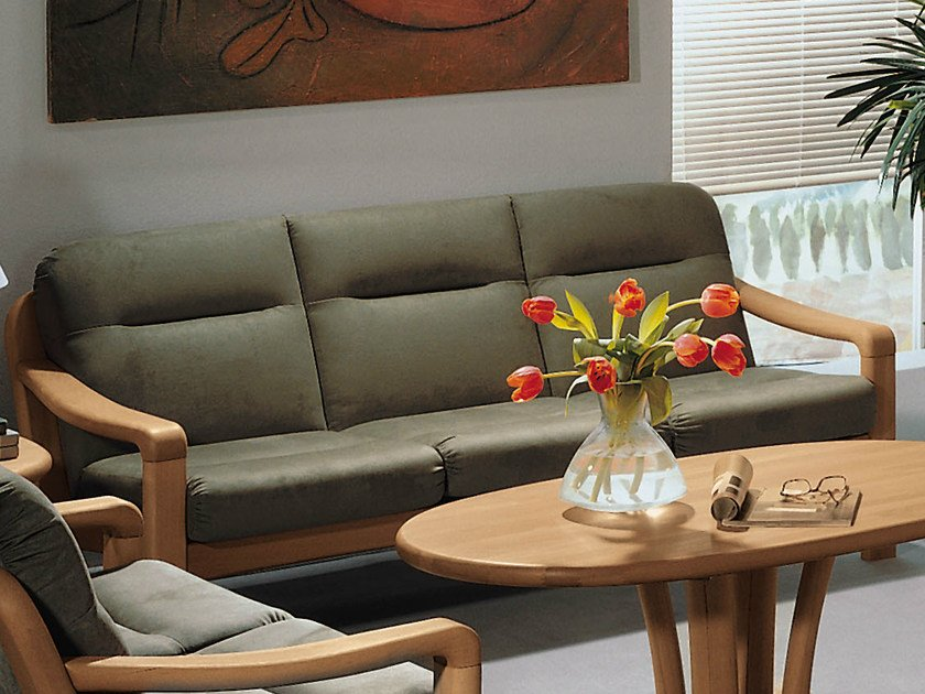 3 seater wooden sofa 1230A | 3 seater sofa by Dyrlund