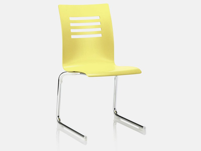 Cantilever plastic chair FOX | Cantilever chair by Brunner