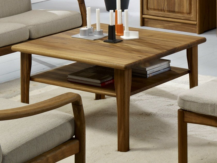 Square wooden coffee table 1254 | Coffee table by Dyrlund