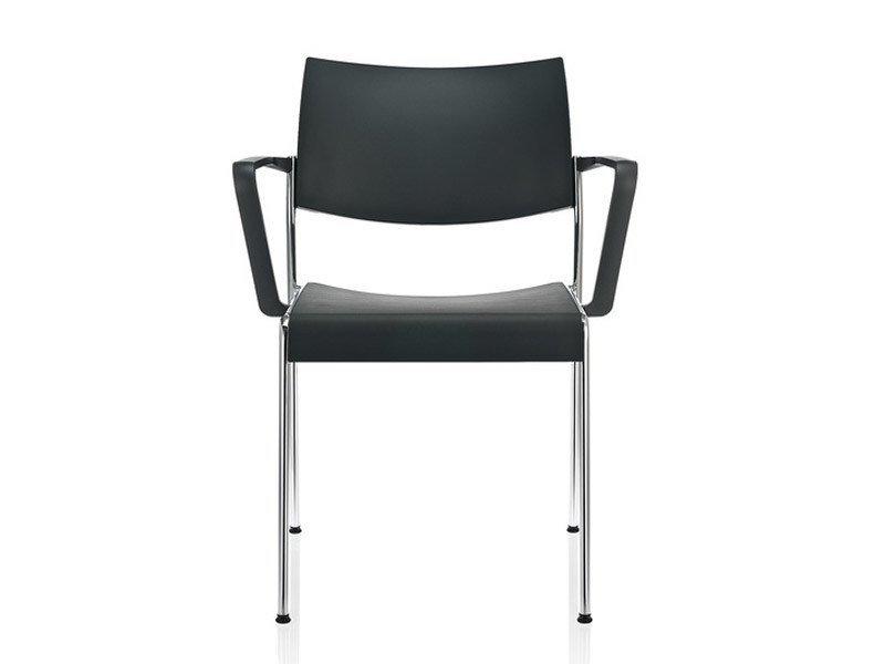 Stackable laminate chair with armrests LINOS | Chair with armrests by Brunner