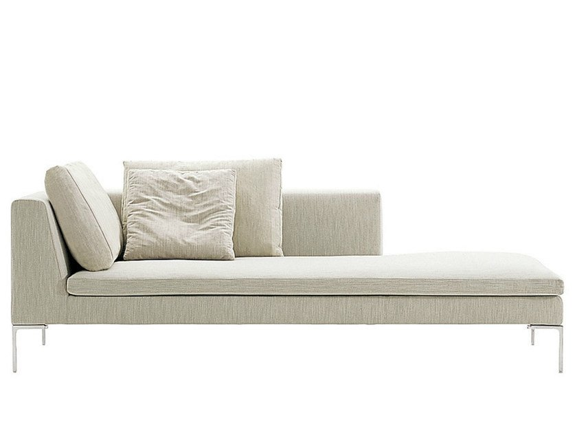 Upholstered fabric day bed CHARLES | Day bed by B&B Italia