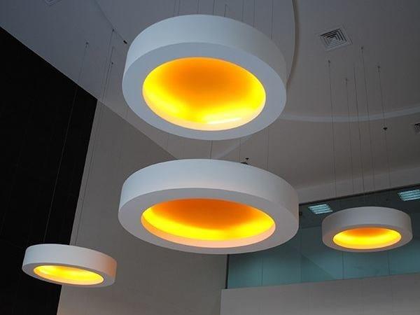 Fluorescent pendant lamp USL PLUTO by FLOS