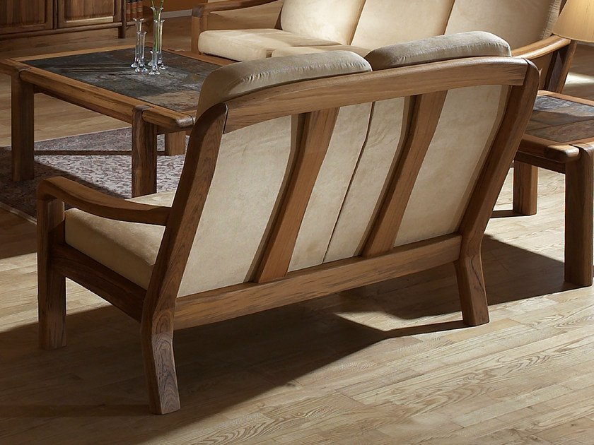 2 seater wooden sofa 1240AH | 2 seater sofa by Dyrlund