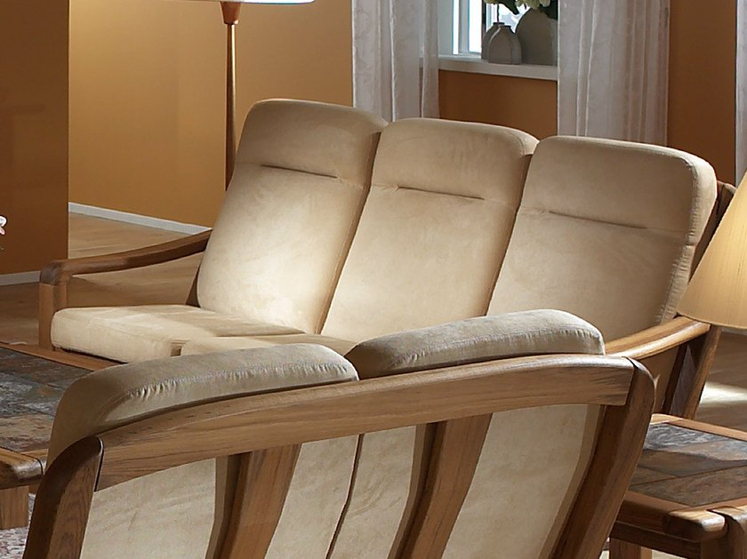 3 seater wooden sofa 1240AH   3 seater sofa by Dyrlund