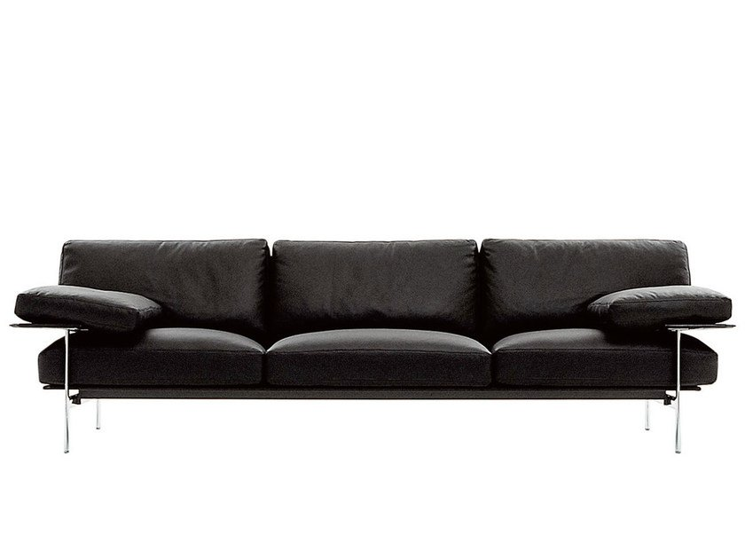 3 seater leather sofa DIESIS | Leather sofa by B&B Italia