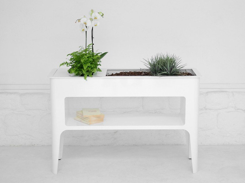 Aluminium console table / vase BABYLONE by Compagnie