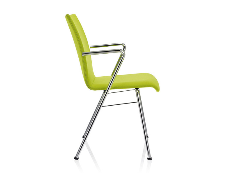 Upholstered chair with armrests TOOL 2 | Upholstered chair by Brunner