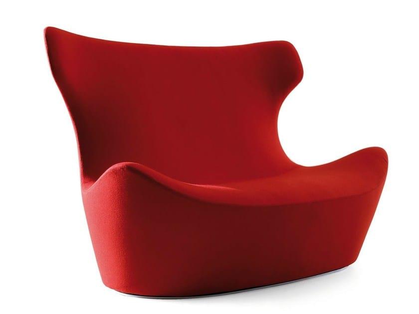 High-back fabric sofa LOVE PAPILIO by B&B Italia