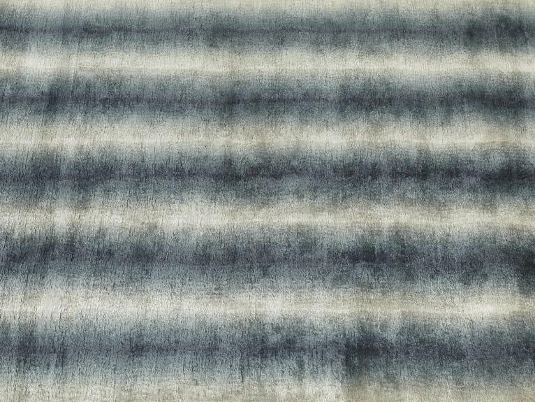 Striped handmade rug SEA WASH by Deirdre Dyson