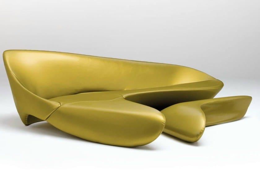 Fabric sofa with footstool MOON SYSTEM by B&B Italia